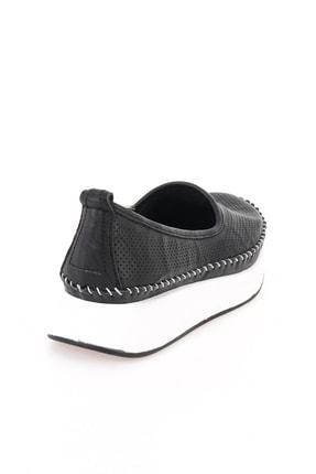 Bambi Hakiki Deri Siyah Kadın Casual Ayakkabı L0504190503 3