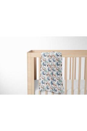 Lunanino Müslin Çok Amaçlı Bebek Battaniyesi Lama 1