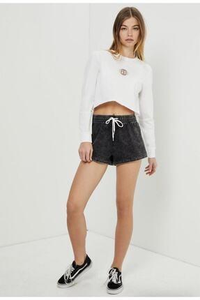 Vans Kadın Beyaz Ovaloid Long Sleeve Crop Tişört 2