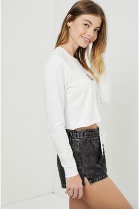 Vans Kadın Beyaz Ovaloid Long Sleeve Crop Tişört 3