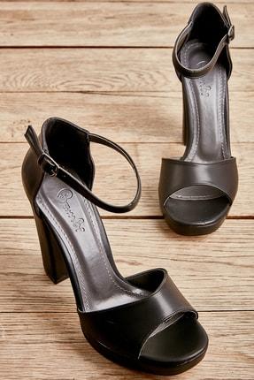 Bambi Siyah Kadın Abiye Ayakkabı L0674001509 0