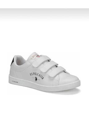 US Polo Assn Unisex Beyaz Düz Taban Ayakkabı 0