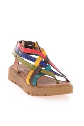 Bambi Hakiki Deri Çok Renkli Kadın Sandalet L0529030503 2