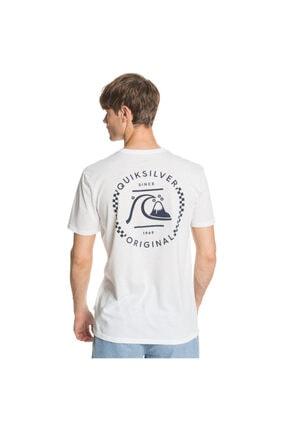 Quiksilver Highergroundss Erkek Beyaz Günlük Stil Tişört Eqyzt05824-wbb0 1