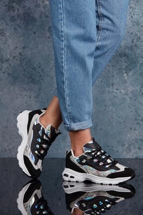 Dark Seer Siyah Beyaz Kadın Sneaker 0