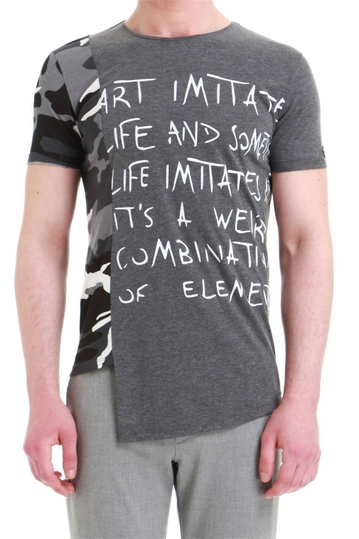 Atş 013 Slim Fit Antrasit Spor T-shirt