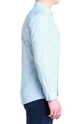Efor G 1384 Slim Fit Mavi-beyaz Spor Gömlek 1