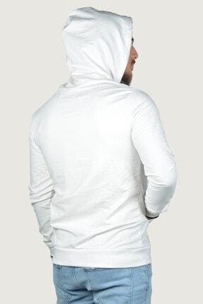 Terapi Men Erkek Kapşonlu Uzun Kollu Sweatshirt 9y-5200178-001 Beyaz 3