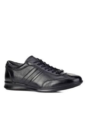 Cabani Bağcıklı Günlük Erkek Ayakkabı Siyah Naturel Floter Deri 0