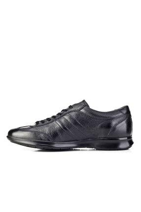 Cabani Bağcıklı Günlük Erkek Ayakkabı Siyah Naturel Floter Deri 2