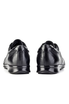 Cabani Bağcıklı Günlük Erkek Ayakkabı Siyah Naturel Floter Deri 3