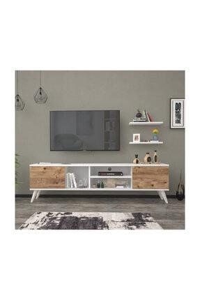 Mbes Mobilya 160 Cm Esin Beyaz-atlantik Tv Ünitesi 0