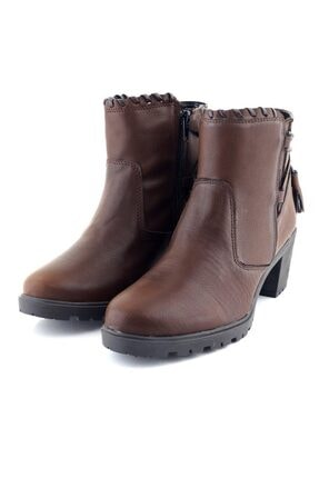 Ayakkabı Tarzım Kahverengi Kadın Bot Topuklu Ozgr 00518 2