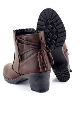Ayakkabı Tarzım Kahverengi Kadın Bot Topuklu Ozgr 00518 3