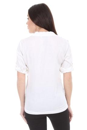 Bigdart 3668 Kol Katlamalı Çizgili Gömlek 3