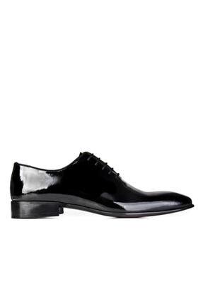 Cabani Bağcıklı Damatlık Klasik Erkek Ayakkabı Siyah Rugan 1