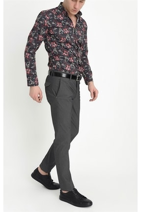 Efor P 1063 Slim Fit Siyah Spor Pantolon 1
