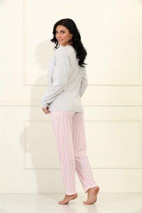 Etoile %100 Cotton Uzun Kol Pijama Takımı 98068 2