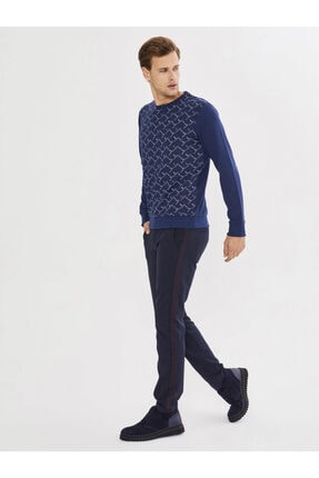 Mcl Giyim Bisiklet Yaka Desenli Pamuklu Sweatshirt 2
