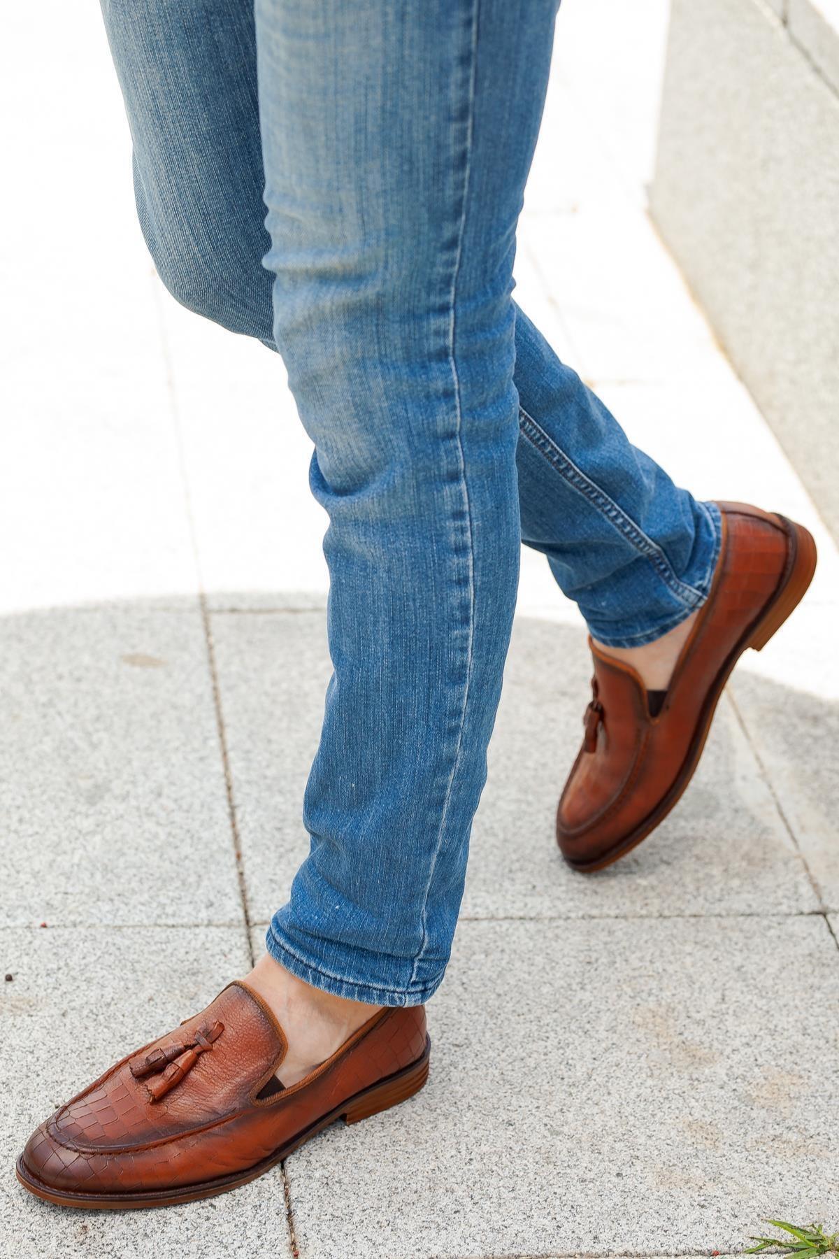 H052 Hakiki Deri Loafer Erkek Ayakkabı