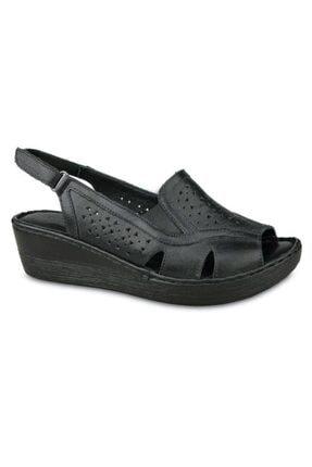 Ceyo 102 Hakiki Deri Dolgu Topuk Sandalet 0