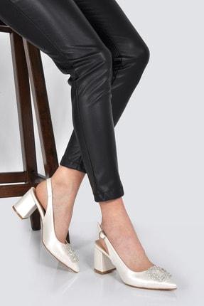 ÇAKICI Kadın Sedef Tokalı Arkası Açık Klasik Topuklu Ayakkabı Ckc20-831k 0