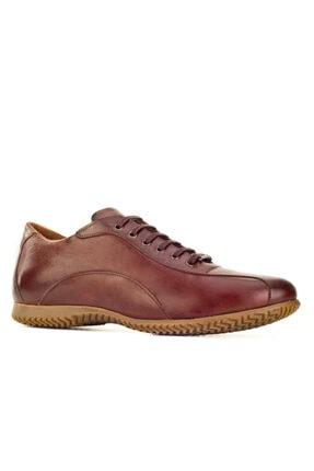 Cabani Bağcıklı Erkek Ayakkabı Kahve Floter Deri 0
