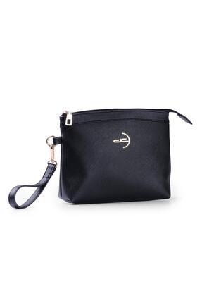 Deri Company Kadın Basic Clutch Çanta Düz Desenli Logolu Siyah (4010s) 214009 2