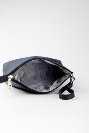 Deri Company Kadın Basic Clutch Çanta Düz Desenli Logolu Siyah (4010s) 214009 4