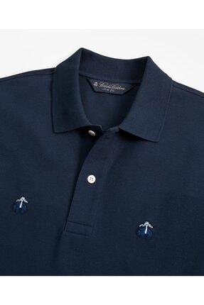 BROOKS BROTHERS Erkek Lacivert Golden Fleece Polo Yaka T-shirt 1