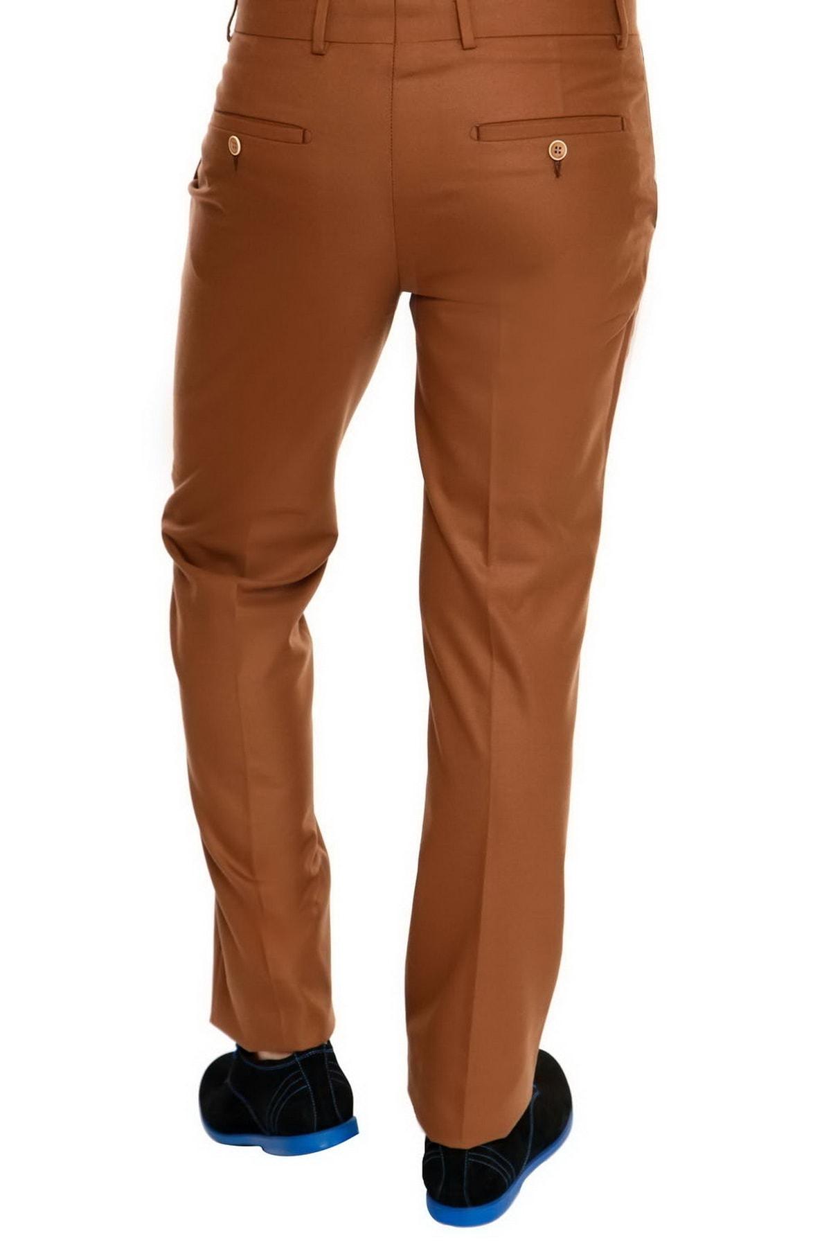 Efor Erkek Taba Slim Fit  Klasik Pantolon P 828