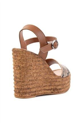 Bambi Bej Kadın Dolgu Topuklu Ayakkabı L0522210007 3