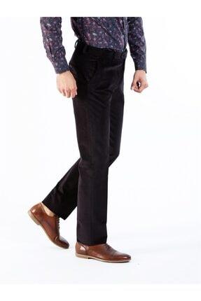 Siyah Büyük Beden Kadife Erkek Pantolon - Battal DU1174161007