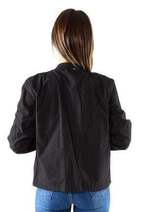 ModaPlaza Kadın Fermuarlı Altı Bağcıklı Siyah Spor Ceket 7210 1