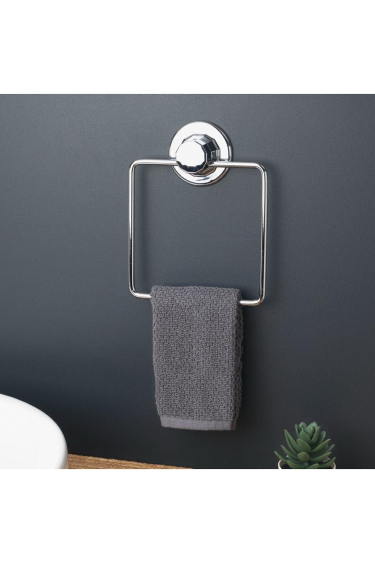 Vakumlu Banyo Tuvalet Havlu Askısı Kare