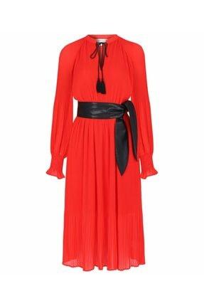 İpekyol Kemerli Pilisole Elbise 4