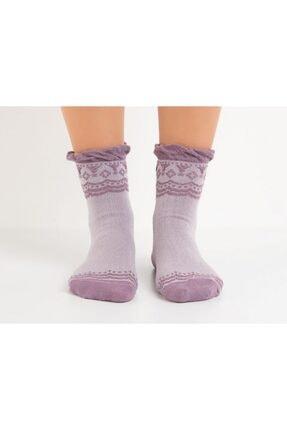 تصویر از Bayan Fırfırlı Soket Çorap