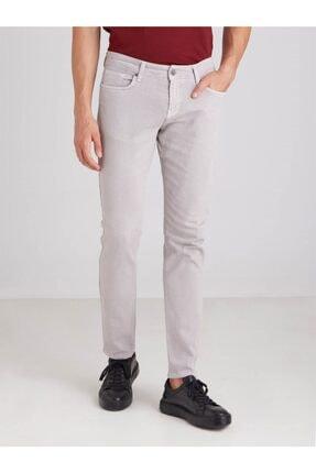 Dufy Gri Düz Likralı 5cep Erkek Pantolon - Regular Fit 0