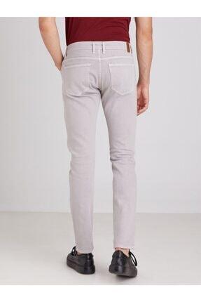 Dufy Gri Düz Likralı 5cep Erkek Pantolon - Regular Fit 3