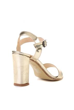 Bambi Altın Kadın Klasik Topuklu Ayakkabı K05503740039 3