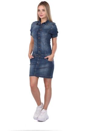 Bluewhite Blue White Kadın Jean Elbise 1
