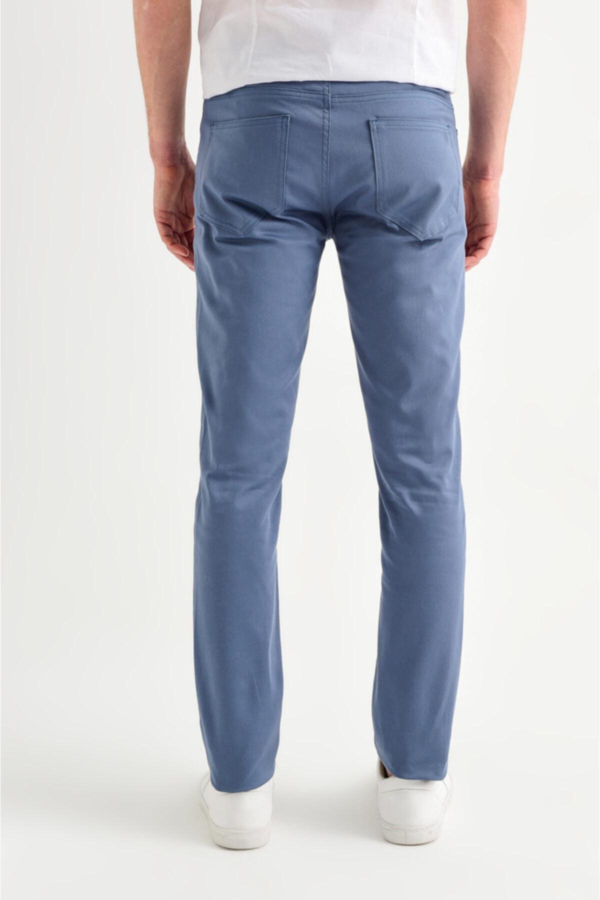 Avva Erkek Açık Mavi 5 Cepli Basic Slim Fit Pantolon A01y3041