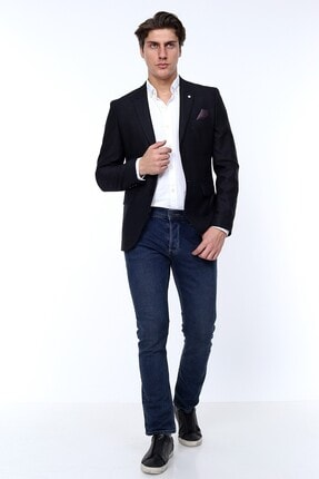 Zen Zen Zenzen Siyah Kareli Erkek Blazer Ceket Slım Fıt 3