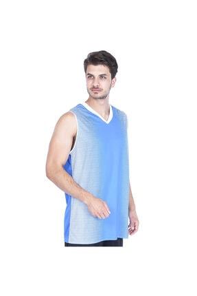 Bengal Erkek Mavi V Yaka Basketbol Forması 201420-0xb resmi