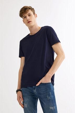 Avva Erkek Lacivert Ultrasoft Bisiklet Yaka Düz Modal T-shirt A01b1171 0