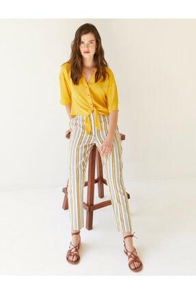 Koton Kadın Çizgili Pantolon 1