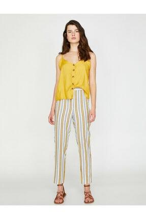 Koton Kadın Çizgili Pantolon 2