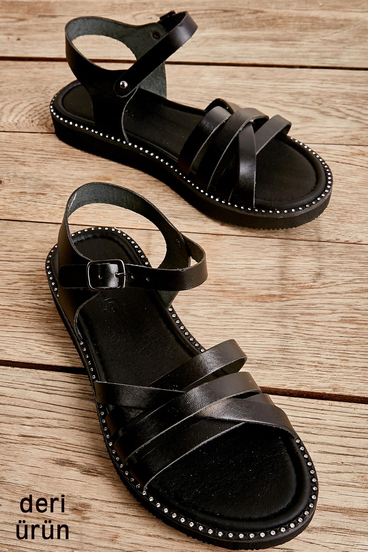 Sıyah Kadın Sandalet L0807000303