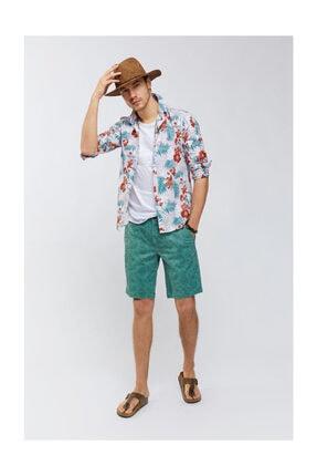 Avva Erkek Lila Baskılı Alttan Britli Yaka Slim Fit Gömlek A91y2122 2