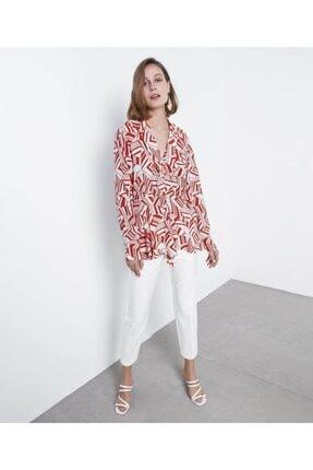 İpekyol Desenli Bluz 0
